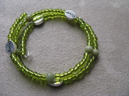 Green Power & Change Wrap Bracelet