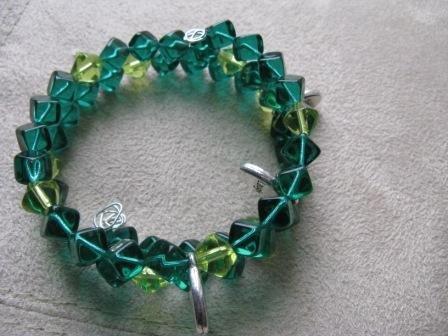 Live Laugh Love Shades of Green Wrap Bracelet
