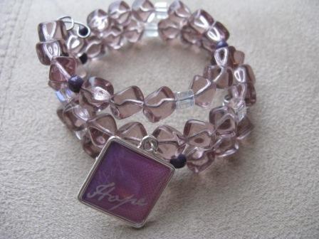 Lavender HOPE Recovery Bracelet