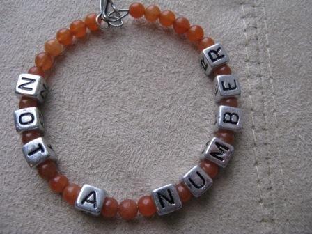 Not A Number Orange Recovery Bracelet