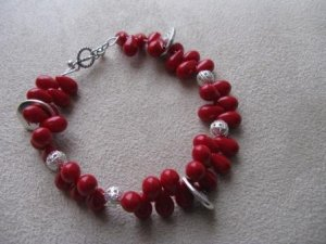 BE HERE NOW Red Recovery Bracelet