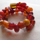 Fiery Red & Orange Wrap Bracelet