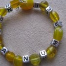 "Yellow ""Not A Number"" Recovery Bracelet"
