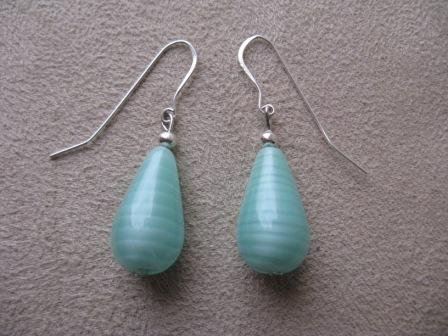 Light Teal Bead Earrings