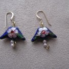 Blue Oriental Style Bead Earrings
