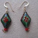 Purple & Red Oriental Style Earrings
