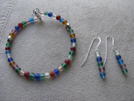 Eating Disorder Awareness Bracelet & Earrings Set