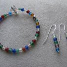 Eating Disorder Awareness Bracelet & Earrings Set