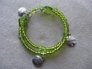 Hope, Health, Happiness Green Recovery Bracelet