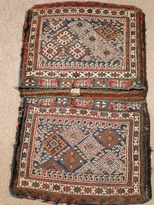 antique sumac flat weave saddlebag khorjin