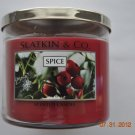 Bath & Body Works Slatkin & Co. SPICE Scented Candle 14.5 oz / 411 g