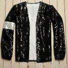 Commemorative Michael Jackson Billie Jean Crystal Style Jacket S (Black)