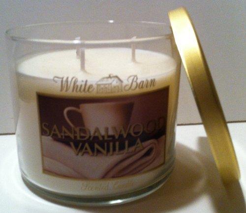 Bath & Body Works White Barn Sandalwood Vanilla Scented Candle 14.5 Oz/ 411 G