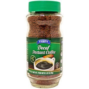 Pampa, Decaf Instant Coffee, 2.82oz Glass Jar (Pack of 4)