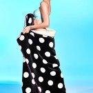 """Victoria's Secret PINK Polka Dot Soft Sherpa Plush Blanket 60"""""""" X 72"""""""" Black Frida"""