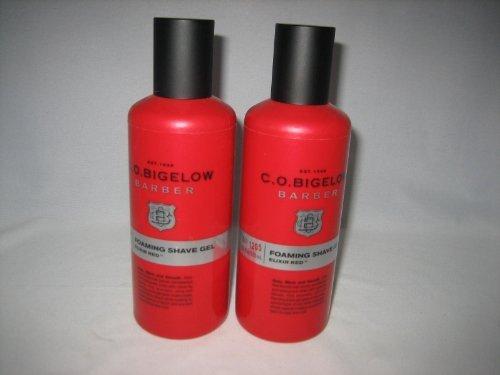 C.O. Bigelow Barber Foaming Shave Gel - Elixir Red - TWO Bottles!