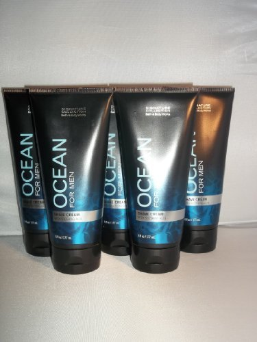5 Bath Body Works Signature Collection Ocean Shave Cream Soothing Aloe Men 6 Oz/