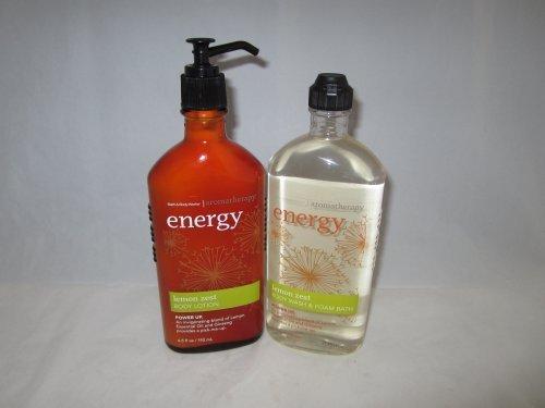 Bath & Body Works Aromatherapy Lemon Zest Set with Body Wash and Body Lotion