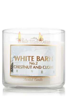 Bath and Body Works White Barn Candle Co 3 Wick 14.5 Oz Scented Candle CHESTNUT
