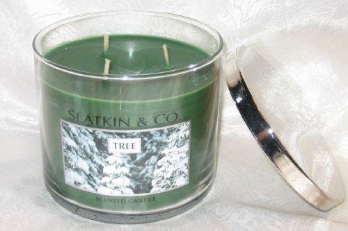 """SLATKIN & CO Holiday """"""""TREE"""""""" 3-Wick Candle 14.5oz Bath & Body Works"""