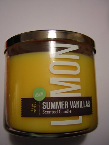 Bath and Body Works Lemon Vanilla 3 Wick Candle