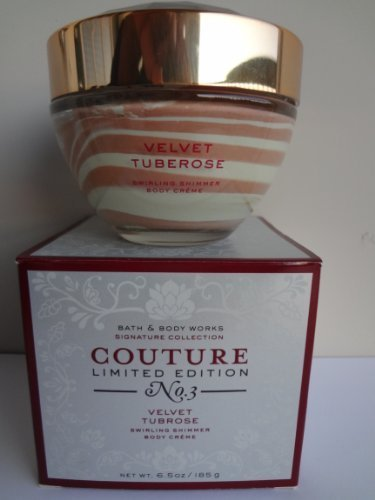 Bath & Body Works VELVET TUBEROSE SWIRLING SHIMMER Body Creme 6.5 oz/185 g COUTU