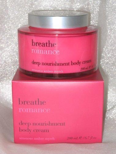 Bath & Body Works Breathe ROMANCE Sensuous Amber Myrrh Deep Nourishment Body Cre
