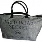 VICTORIA SECRET LIMITED EDITION VS SILVER GLITTER TOTE WEEKENDER - 2015 PINK