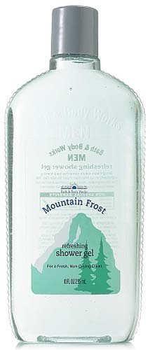 Bath & Body Works Men Mountain Frost Refreshing Shower Gel 10 fl oz (295 ml)