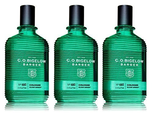 C.O. Bigelow Barber Cologne Elixir Green, 2.5 oz (3-Pack)
