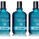 Lot of 3 C.O. Bigelow Elixir Blue 1580 Cologne Spray 2.5 Oz
