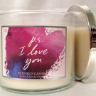 Bath and Body Works Signature Collection P.s I Love You Scented Candle