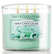 Bath & Body Works Three Wick 14.5 Oz. Scented Candle - Mint Chocolate