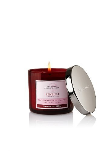 Bath and Body Works Aromatherapy 4 Oz. Filled Candle Black Currant Vanilla