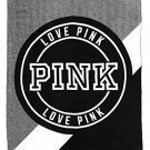 Victoria's Secret PINK Plush Blanket Grey/Black