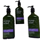 Bath & Body Works Aromatherapy Stress Relief Vanilla Verbena Lotion 6.5oz X3 - 1
