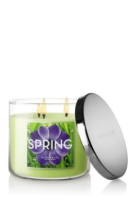 Slatkin and Co. Spring Three Wick 14.5 Oz. Scented Candle - Bath & Body Works