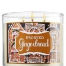 Bath & Body Work Slatkin Co. 14.5 Oz. 3- Wick scented candle-Frosted Gingerbread