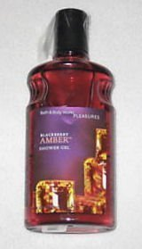 Bath & Body Works Blackberry Amber Pleasures Collection Shower Gel 10 fl oz