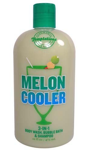 Bath & Body Works Temptations Melon Cooler 3 in 1 Body Wash, Bubble Bath, & Sham