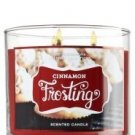 Bath and Body Works Cinnamon Frosting 3 Wick Candle 2012 Design 14.5 Oz