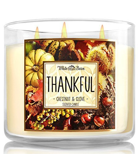 Bath and Body Works Thankful Chestnut and Clove Candle - Large 3-wick 14.5 oz Ca