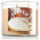 Bath and Body Works 14.5 Oz 3-wick Candle Pumpkin Caramel Latte