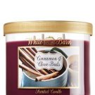 1 X Bath and Body Works Cinnamon & Clove Buds 3 Wick Candle 2012 Design White Ba