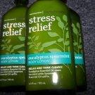 Lot of 3 Bath & Body Works Aromatherapy Stress Relief Eucalyptus Spearmint Body