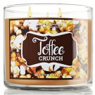 Bath and Body Works Toffee Crunch 3 Wick Candle 14.5 Oz 2012 Design
