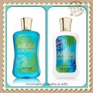 Bath & Body works 2013 'Aruba Coconut' Body Lotion & Shower Gel Set