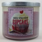 Bath & Body Works Red Velvet Cupcake 3 Wick Scented Candle 14.5 oz./411 g
