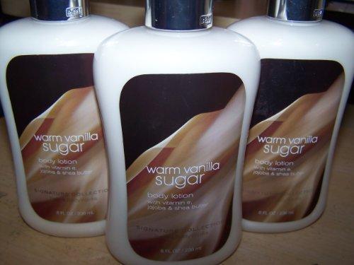 Lot of 3 Bath & Body Works Warm Vanilla Sugar Body Lotion 8 Fl Oz (Warm Vanilla