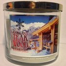 Bath and Body Works Mahogany Teakwood Decorative Label Large 3-wick Candle